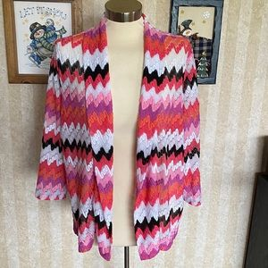 Alfred Dunner Open Front Cardigan